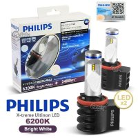 Лампы светодиодные Philips H11/H8/H16 6000K X-treme Ultinon FOG LED 12834UNIX2