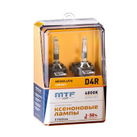 Ксеноновые лампы MTF Light D4R, ABSOLUTE VISION +50%, 3800lm, 4800K, 35W, 42V, 2шт.