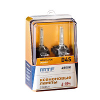 Ксеноновые лампы MTF Light D4S, ABSOLUTE VISION +50%, 3800lm, 4800K, 35W, 42V, 2шт.